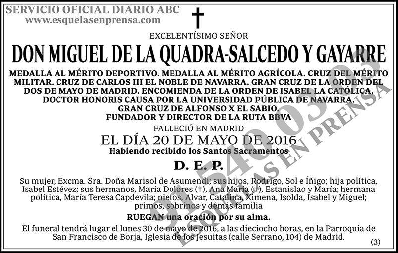 Miguel de la Quadra-Salcedo y Gayarre